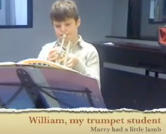 William, My trumpet student